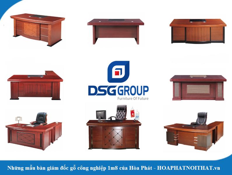 10 mẫu bàn giám đốc gỗ công nghiệp 1m8 đẹp của Hòa Phát