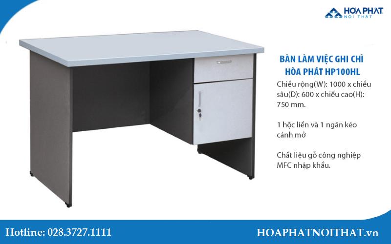 Mẫu bàn HP100HL màu ghi chì đặc sắc